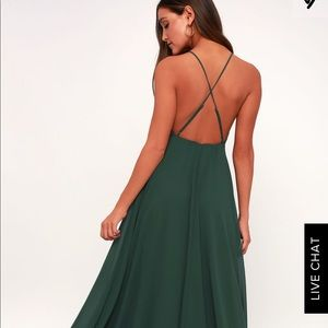 Forest green maxi dress worn once!
